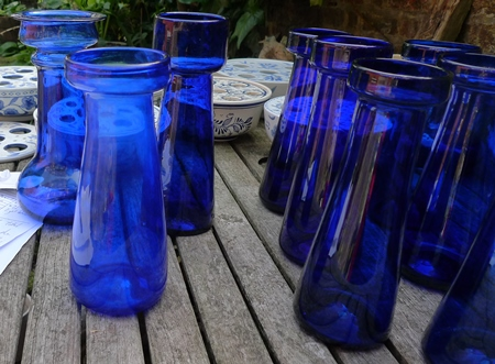 cobalt blue tall hyacinth vases