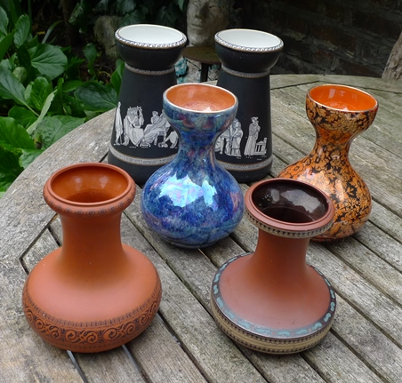pottery hyacinth vases
